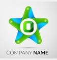 letter o logo symbol in the colorful star on grey vector image vector image