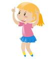 little girl in pink dancing vector image vector image