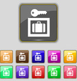 Luggage Storage icon sign Set with eleven colored vector image vector image