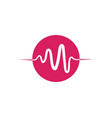 medical heartbeat pulse icon vector image vector image