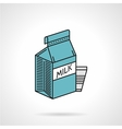 Milk blue pack icon vector image vector image