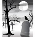 Old Graveyard with Crow vector image vector image