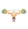 old man sports senior man athlete and barbell vector image