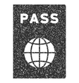 Passport Icon Rubber Stamp vector image