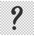 Question mark sign Dark gray icon on transparent vector image vector image