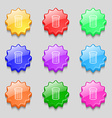 Recycle bin sign icon Symbol Symbols on nine wavy vector image vector image
