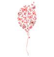 Red balloon of butterflies vector image vector image