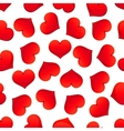 Red hearts seamless pattern for Valentine Day vector image