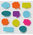 retro colorful speech bubble with transparent vector image