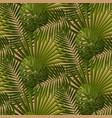 retro tropical leaves seamless pattern vector image vector image