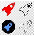 rocket eps icon with contour version vector image vector image
