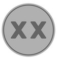 roman twenty silver coin vector image vector image