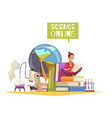 science degree online composition vector image
