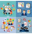 Scrum Agile 4 Flat Icons Square vector image vector image