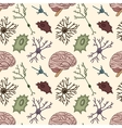 seamless pattern of the neurons vector image