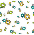 seamless pattern with gear wheels vector image