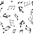 Seamless pattern with music notes vector image vector image
