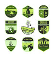 set-of-environment-badge vector image