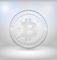 silver bitcoin digital currency vector image