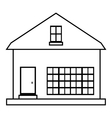 Small rural house icon outline style vector image vector image