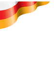 south ossetia flag on a white vector image