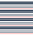 stripe seamless pattern with cyan red and white vector image vector image