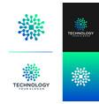 technology logo design template vector image