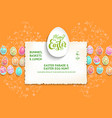 template holidy eggs vector image vector image