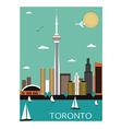 Toronto city vector image vector image