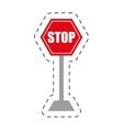 traffic prohibited stop danger precaution vector image vector image