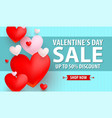 valentines day up to 50 discount banner vector image vector image