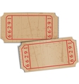 vintage blank paper tickets vector image