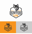 vintage wolf logo template image vector image