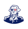 washington wearing sunglasses usa flag mascot vector image vector image