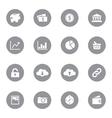 web icon set 4 on gray circle vector image vector image