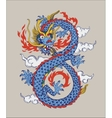 Colorful of Chinese oriental Dragon vector image