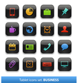 Tablet buttons collection vector image
