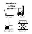 1353 warehouse lifting equipment vector image