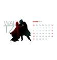 2019 dance calendar october little red riding vector image