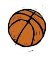 A basketball vector image vector image
