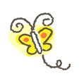 A flying butterfly vector image vector image