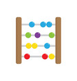 abacus flat icon vector image vector image