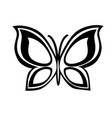 abstract monochrome butterfly vector image