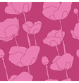 Abstract pink flowers seamless pattern vector image