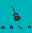 Acoustic guitar icon flat
