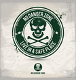 alternative no danger zone stamp vector image vector image