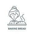 baking bread line icon linear concept vector image vector image