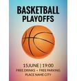 basketball poster sport flyer basketball vector image