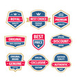 business badges set in vintage design style vector image vector image