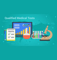 Business banner - qualified medical tests vector image